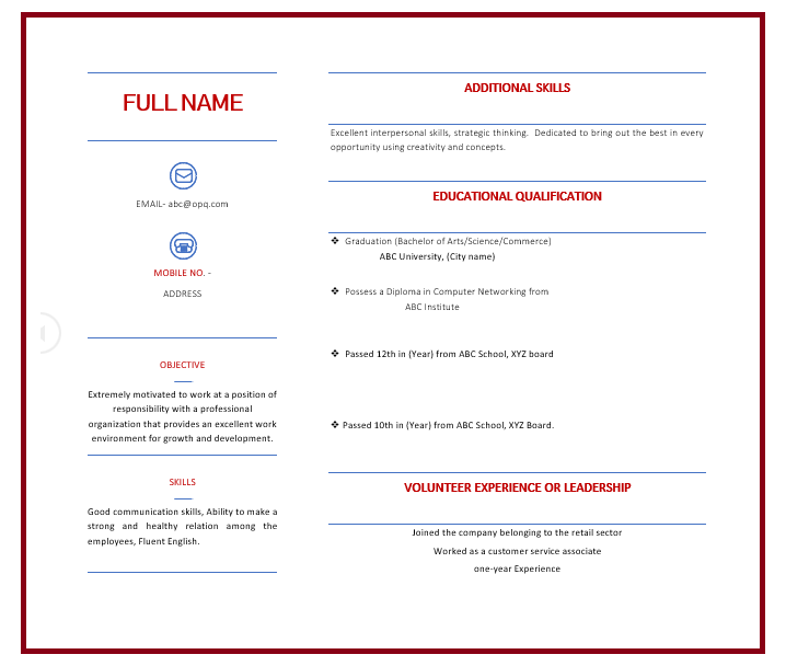 Resume for College student with no experience - Resume format for undergraduate