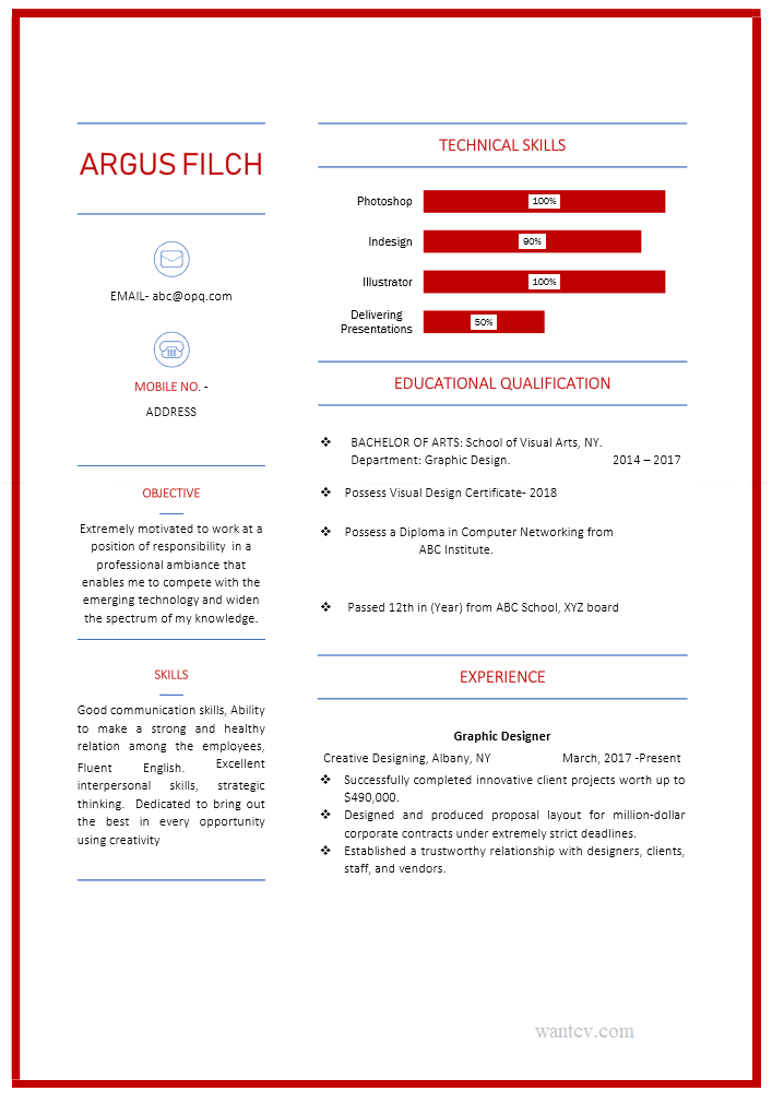 Clean and Accurate Resume Template