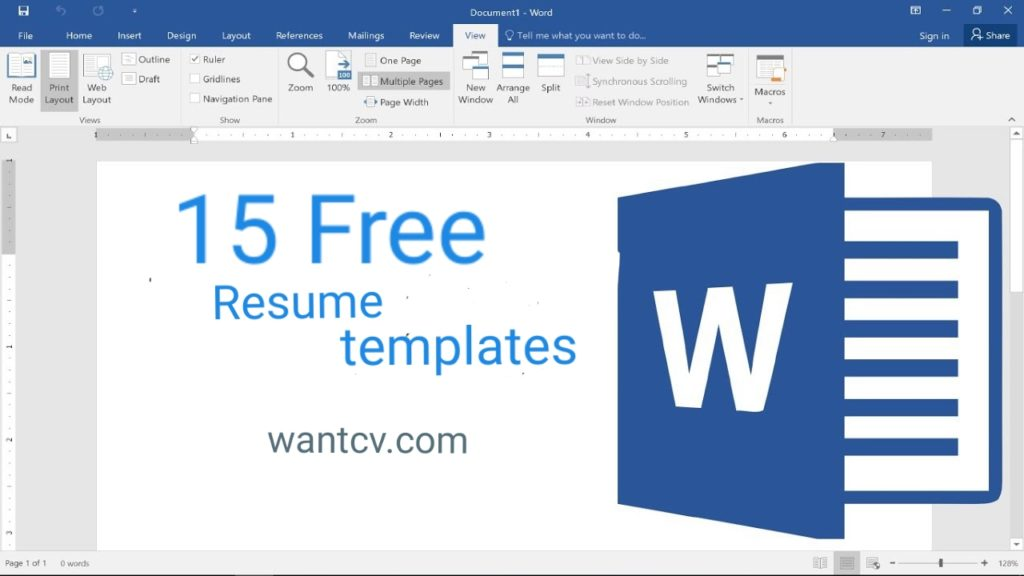 15 Best Resume Templates Word Free Download 2019 Wantcv Com