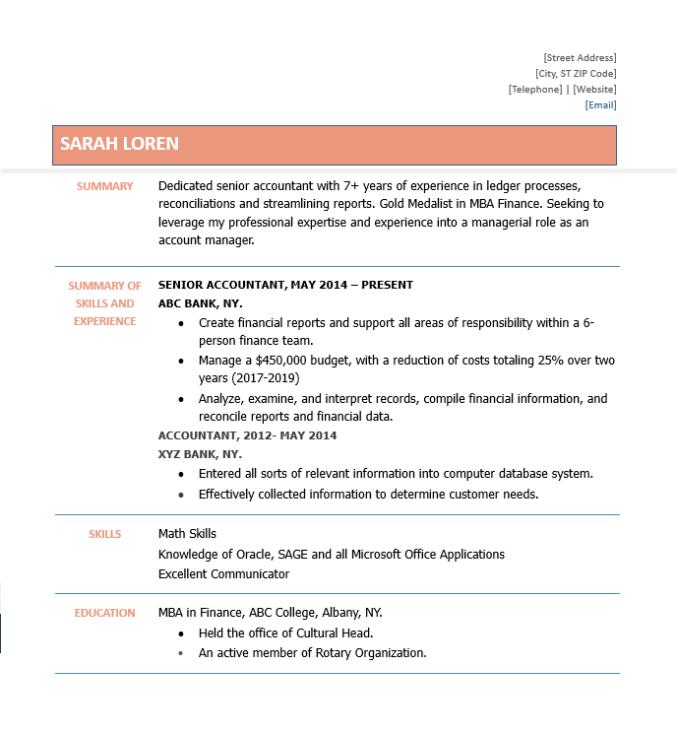 accountant resume