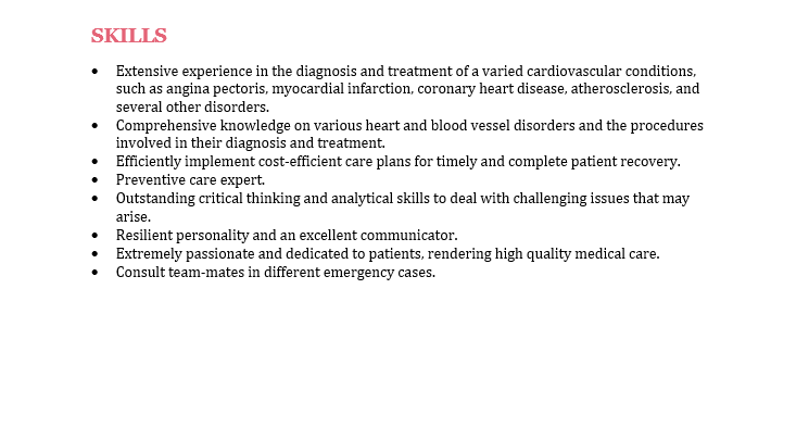 skills in paragraph