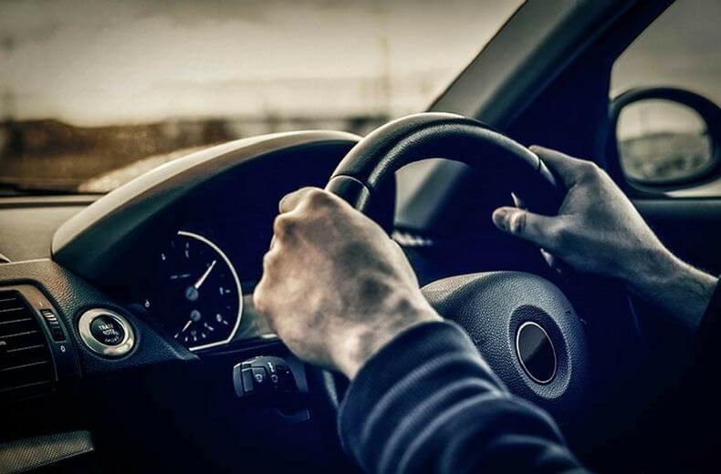 driving a car