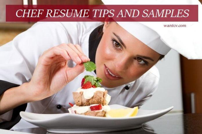 chef resume writing tips