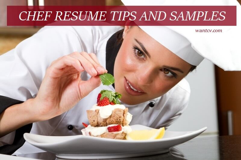 chef resume tips and samples