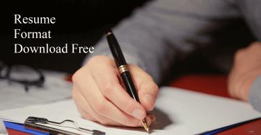 resume format download free