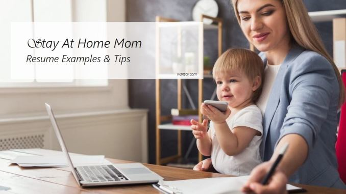 Home Mom Resume Examples