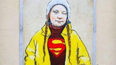 Greta Thunberg mural in Florence - Wanted in Rome