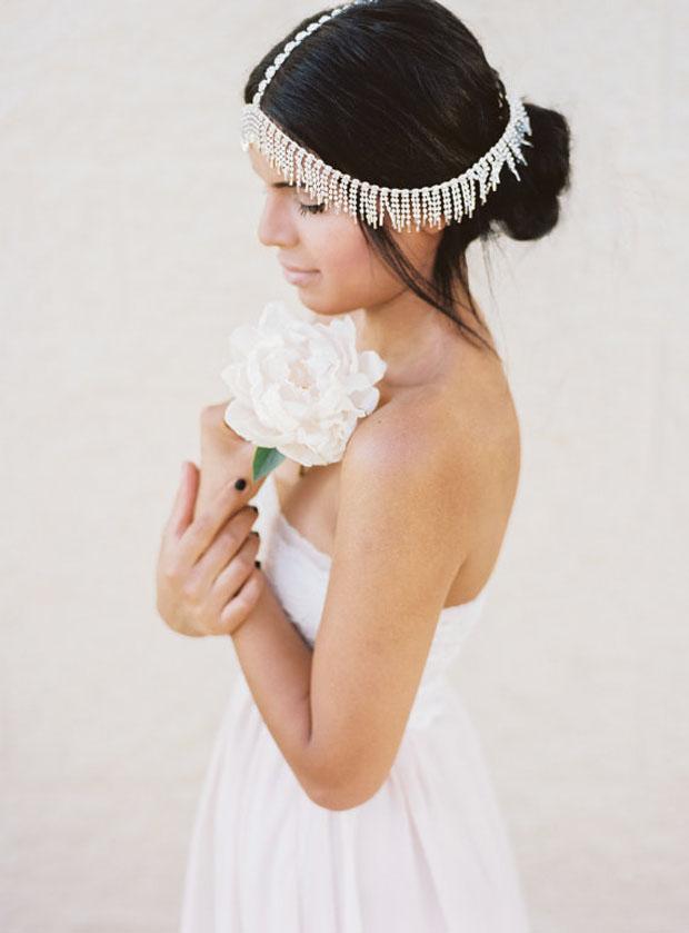 Boho Forehead Bands Amp Beautiful Halo Crowns Bridal Style