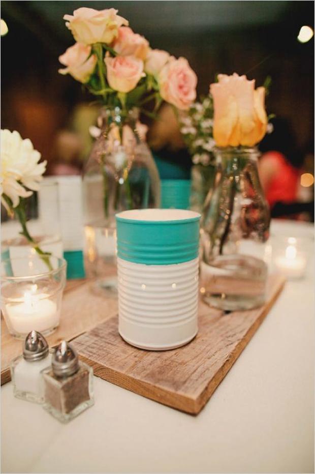 Creative DIY Rustic Wedding Ideas Using Tin Cans Crazyforus