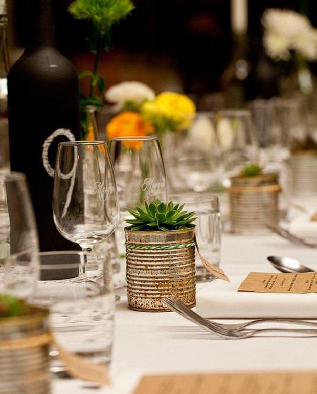 Fun & Creative Tin Can Wedding Ideas