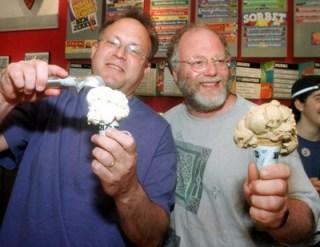 Ben Cohen en Jerry Greenfeld verkochten hun fairtrade-ijs aan Unilever.