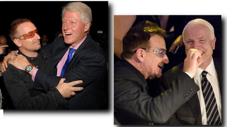 Nog meer foto's van Bono met nog meer beroeeeemde mensen..