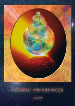 'LAVA', de verbinding tussen Aarde en Vuur. Representatief voor de verbinding IN onszelf van lichaam (Aarde) en ziel (vuur)