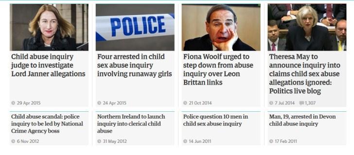 Guardian child abuse news