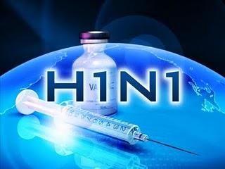 Het krankzinnige van een speciaal ontworpen logo voor de H1N1-griep.. Alsof het een bedrijf is, dat er netjes op moet staan..!