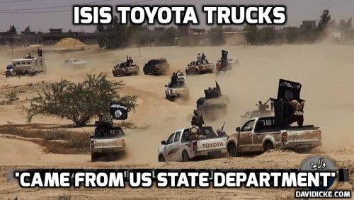 ISIS Toyota stoet