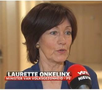De Belgische minister van Volksgezondheid, mw. Laurette Onkelinx