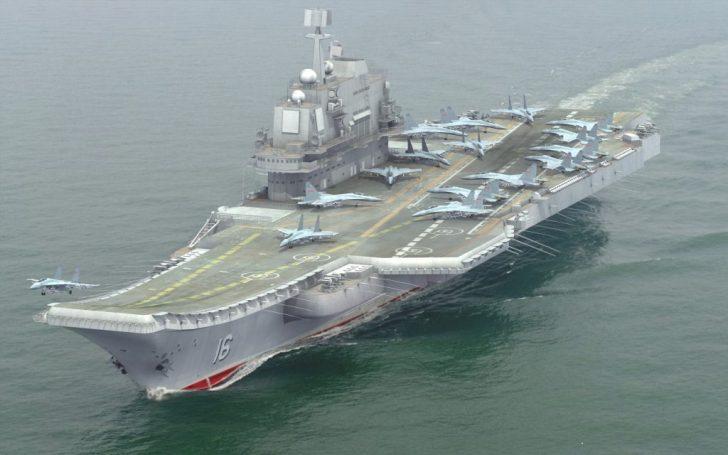 Het Chinese vliegdekschip Liaoning-CV-16.