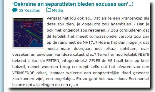 MH 17 bieden excuses aan