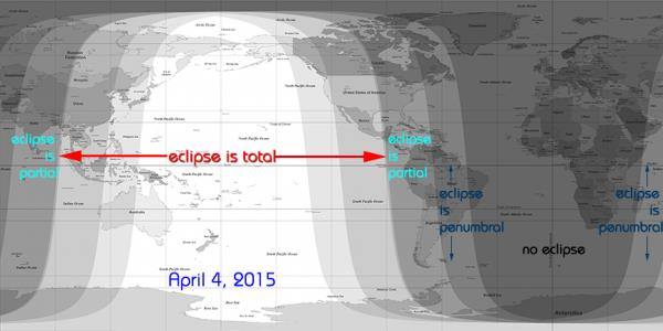 Maansverduistering 4 april 2015