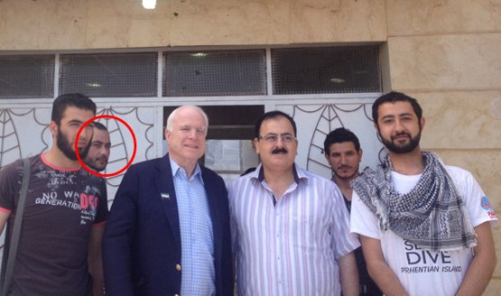 McCain en Elliot Shimon aka Al-Baghdadi in Syrie