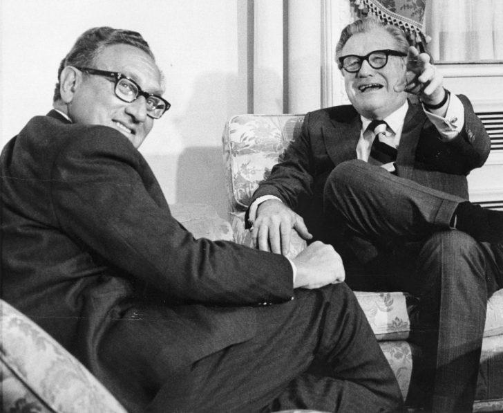 Ontmoeting van Kissinger met Nelson Rockefeller, januari 1975