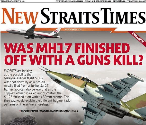 De Maleisische krant 'New Straits Times'durft gewoon de vraag te stellen, die we hier in Nederland niet eens op het nieuws mogen horen en zien..!
