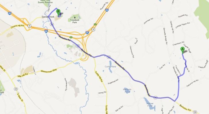 Newton route Adam Lanza
