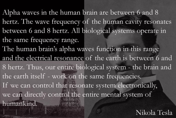 Nikola Tesla control the mental system