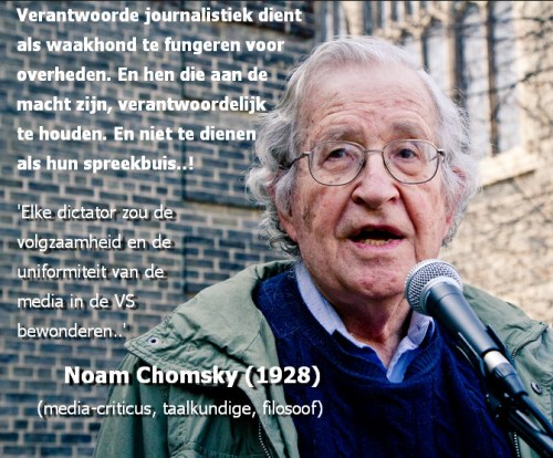Noam Chomsky journalistiek