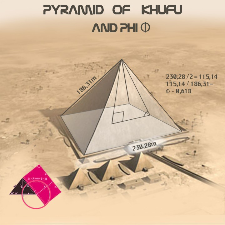 Pyramid of Khufu and phi