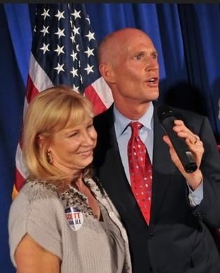 Rick Scott gouverneur Florida en vrouw