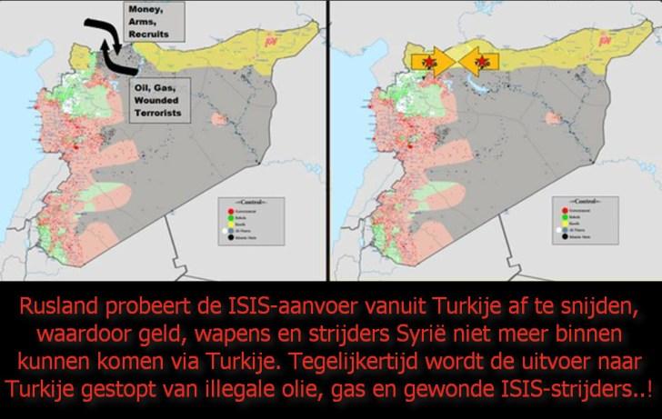 Rusland blokkeert overgang Turk Syrie