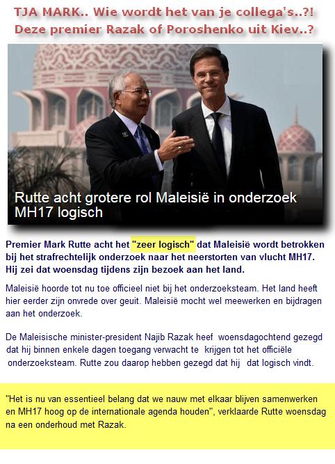 Rutte Razak MH17