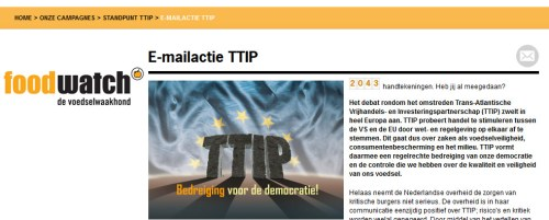 TTIP foodwatch campagne