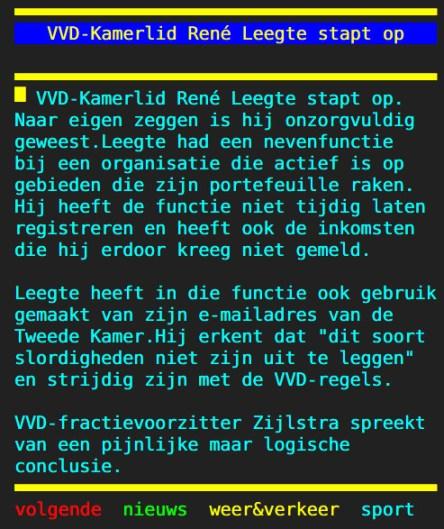 VVD rene leegte