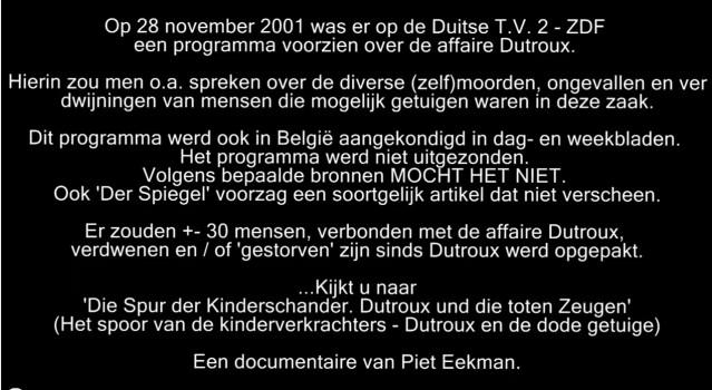 aankondiging Dutroux