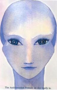 Zo hebben Andromedanen een licht blauwe huid