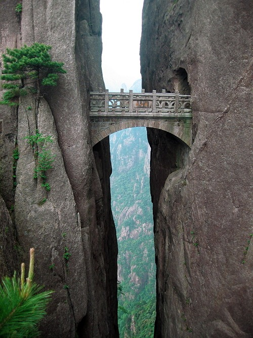 bridge rocks yellow mountain china