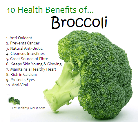 broccoli 10 benefits