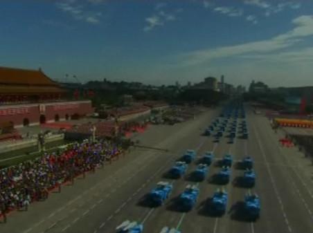 Er bleek niets 'natuurlijk' aan het prachtige weer dat was geschapen om de Nationale Parade in Beijing in het zonnetje te zetten..