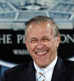 Rumsfeld zal het lachen nog wel vergaan..