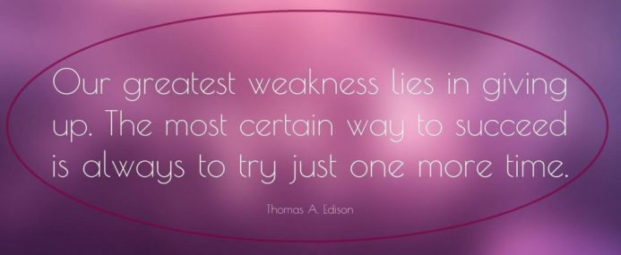 edison quote giving up