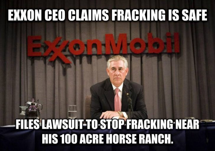 exxon ceo fracking ranch