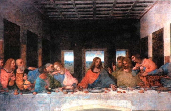 'Het laatste avondmaal' van Leonardo da Vinci. De ontdekking dat Maria Magdalena zeer waarschijnlijk één van de apostelen is geweest, zette het 'mannelijke' geloof op zijn kop..