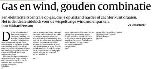 gas en wind volkskrant