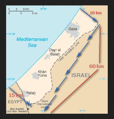 gaza strook afmetingen