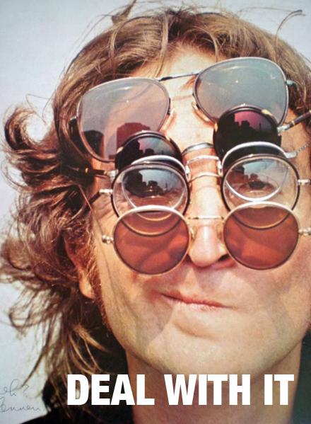 Beroemd brildrager John Lennon gebruikte deze brillen om een levenswijsheid uit te dragen. Verkeerde voorbeeld zo blijkt...