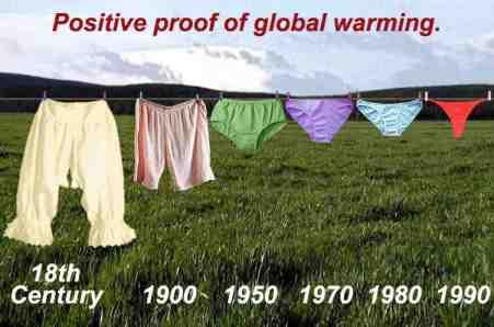 En zoals met alle zaken in het leven die te maken hebben met intense emoties, worden ook over de opwarming van de Aarde relativerende uitingen bedacht..