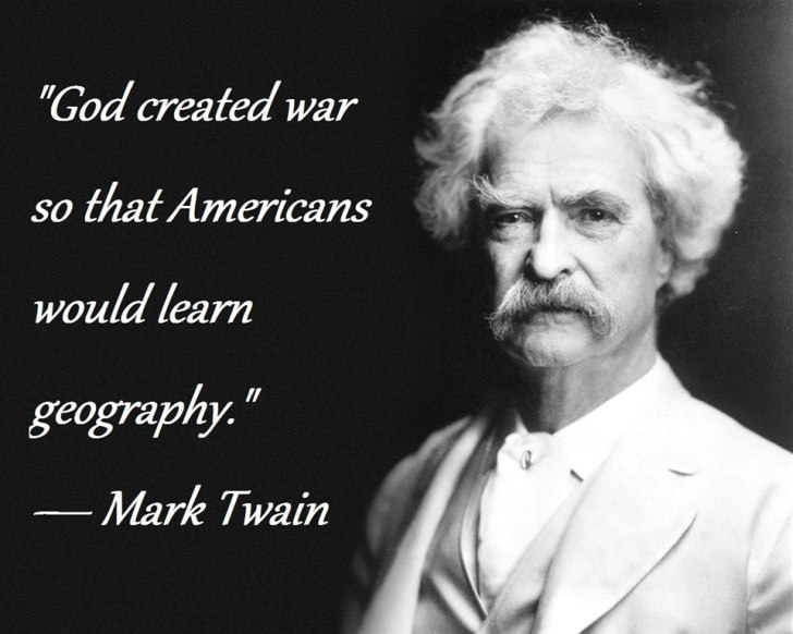 god created war for american geography